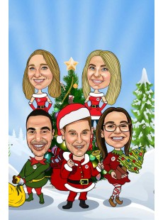 Christmas Caricatures: Click for more examples