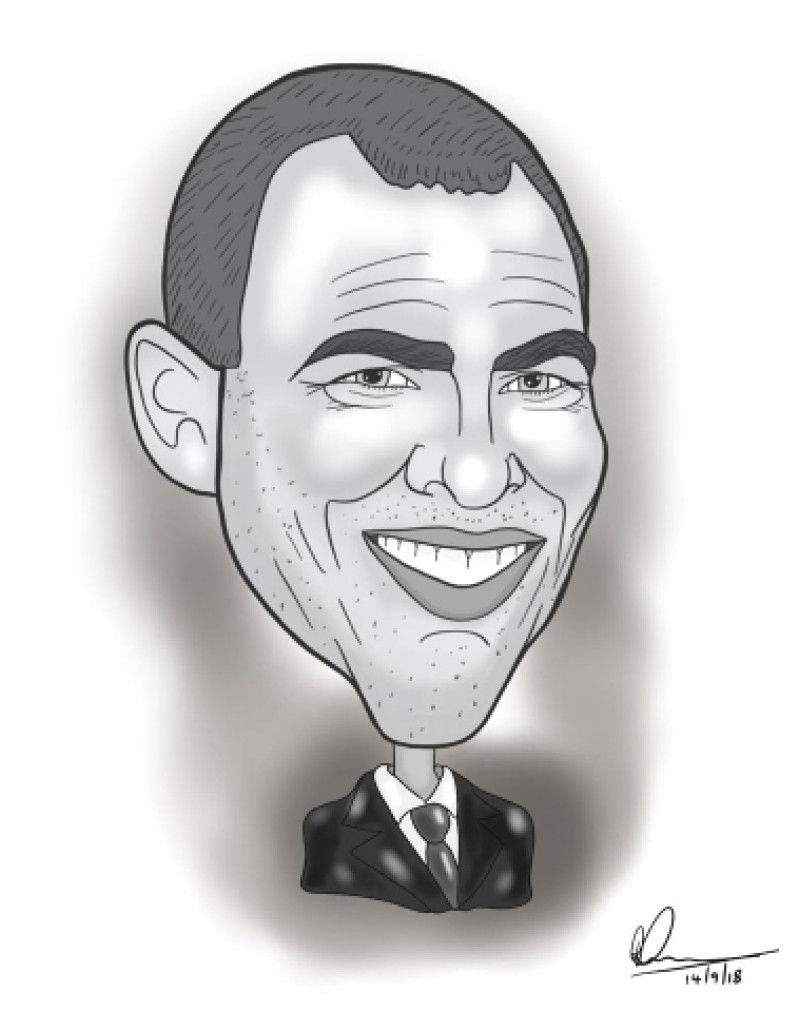 Digital file caricature (Full high res image) You can also download your photos after you have ordered.
