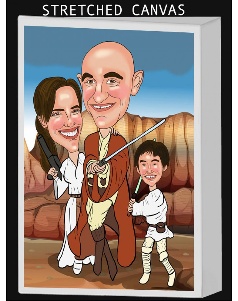 Canvas Caricatures: (You can also download your photos after you have ordered)