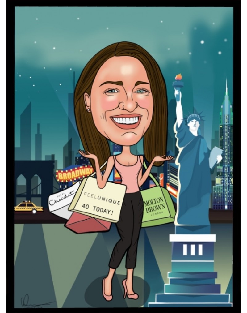 Caricature Print: (You can also download your photos after you have ordered)