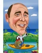 Order your caricature securely with either Paypal or Stripe