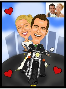 Romantic caricatures: from £55